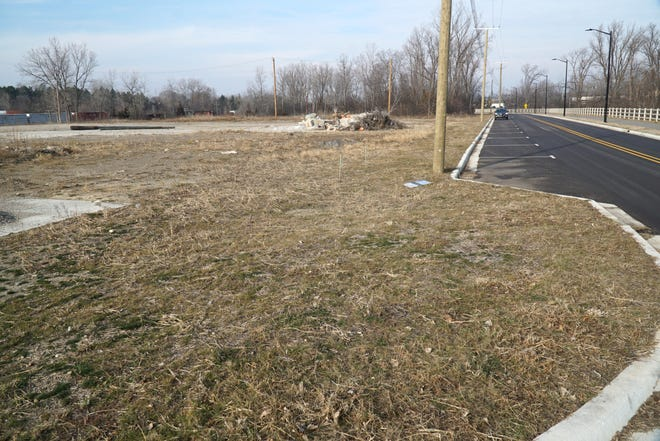 Bond Street in Novi just west of Novi Road. Novi has worked on clearing land and adding new roads to the planned development at Novi Road and Bond Street.