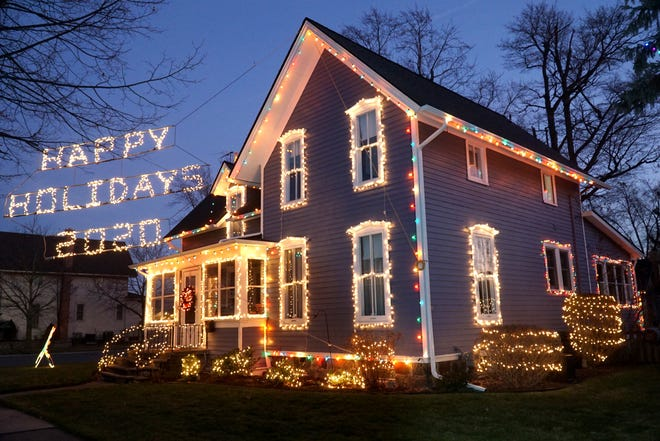 Randy Kalinski's well-decorated home on W. Lake Street in South Lyon.
