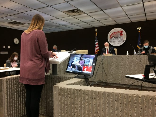 Valerie Shaffer updates the Wayne County Board of Commissioners about the Economic Development Corporation of Wayne County during a Wednesday, Dec. 9, 2020, meeting in the Wayne County Administration Building.