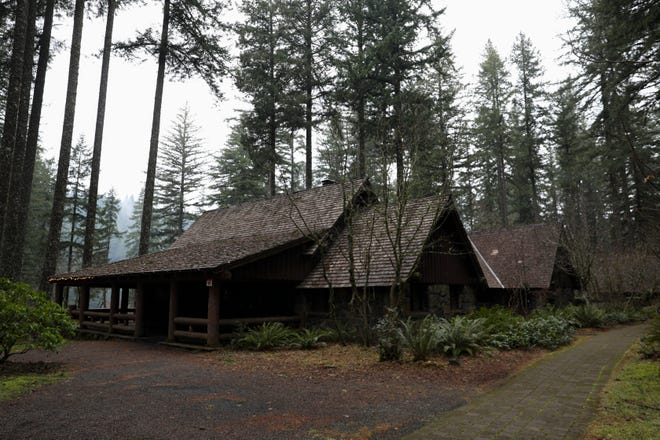 The cafe in the South Falls Lodge at Silver Falls State Park is currently closed. The company that operated the cafe and conference center ended its contract after a decline in events due to the COVID-19 pandemic.