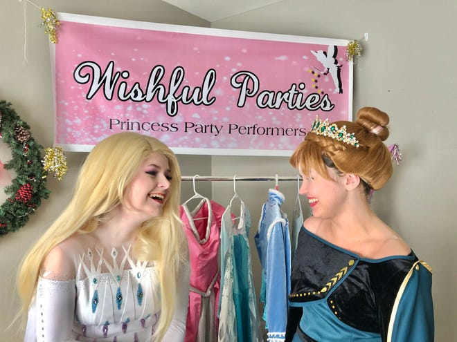 Owner of Wishful Parties, Payton Naylor, with snow sister Kimberlee Miller.