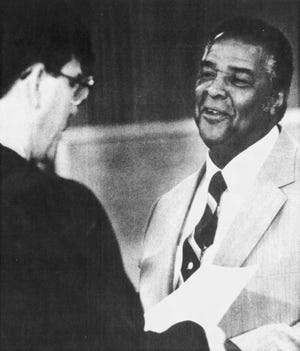 Kenny Anderson is sworn into the Sioux Falls City Council on July 11, 1988.