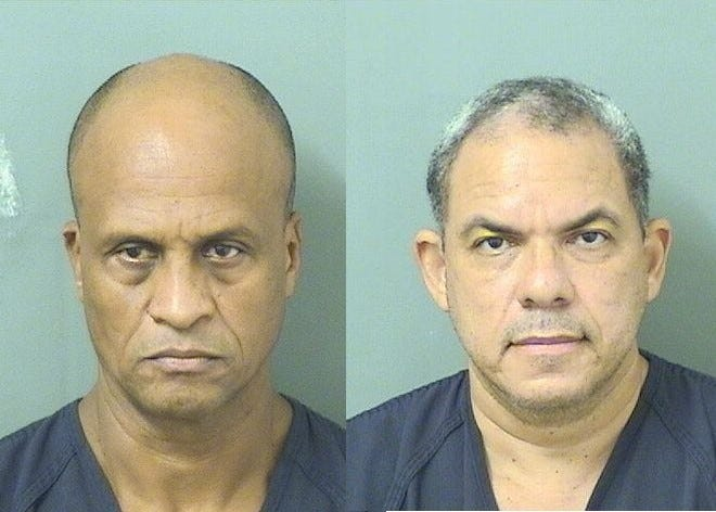 Authorities on Thursday, Dec. 10, 2020, arrested Hoover Francisco Mora and Domingo Urena Reinoso, both of Boca Raton, for bringing a gun onto a school campus. Both men were custodians at J.C. Mitchell Elementary School in Boca Raton at the time of their arrests.