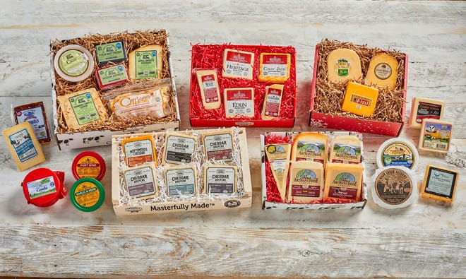 You can choose from 27 gift boxes of Wisconsin cheese to give to the cheese lover in your life for the holidays.