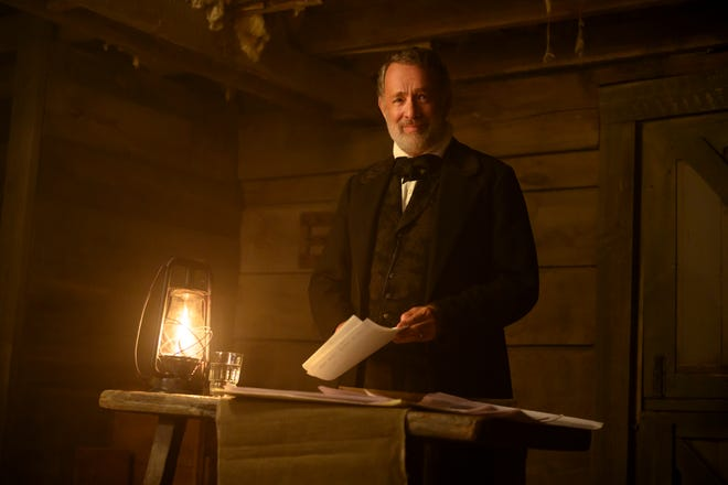 """Tom Hanks stars Captain Jefferson Kyle Kidd, a former Confederate soldier who now is a traveling storyteller in Paul Greengrass'  """"News of the World."""""""