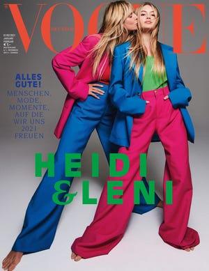 Leni Klum makes her modeling debut alongside her mother Heidi Klum on the January/February 2021 cover of Vogue Germany