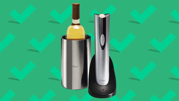 Best gifts for wives 2020: Oster Rechargeable and Cordless Wine Opener with Chiller.