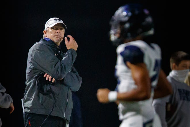 Hendrickson head coach Chip Killian and the Hawks lost 44-14 to Fort Bend Hightower Friday in the second round of the playoffs.