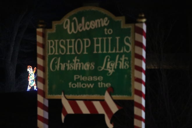 Bishop Hills lights the night for their annual neighborhood Drive Through Christmas Light displays.
