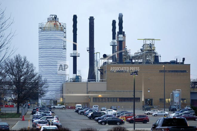 The Pfizer Global Supply Kalamazoo manufacturing plant is shown in Portage, Mich., Friday, Dec. 11, 2020. Pfizer's COVID-19 vaccine won an endorsement Thursday, Dec. 10, from a Food and Drug Administration panel of outside advisers, and agency signoff is the next step needed to get the shots to the public.