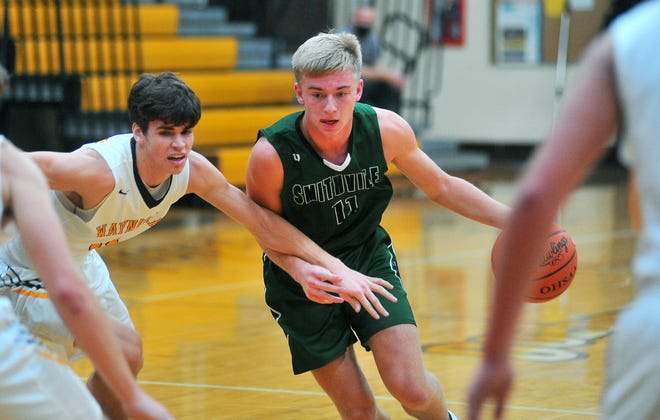 Smithville's Carter Fath tries to get by Zach Geiser earlier this season. Fath has become Smithville's leader as a junior.