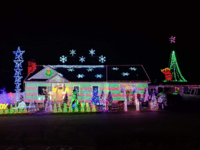 The Hill family have created an elaborate Christmas display at their home on Patton Avenue in Somerset.