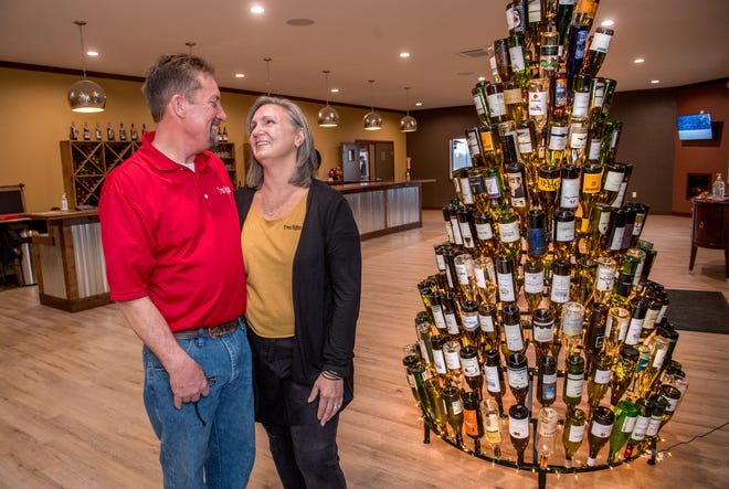 Bob and Lisa Barry opened their new winery Tres Rojas, 1774 E. Cruger Rd. in Washington, over the weekend under COVID-19 pandemic restrictions.