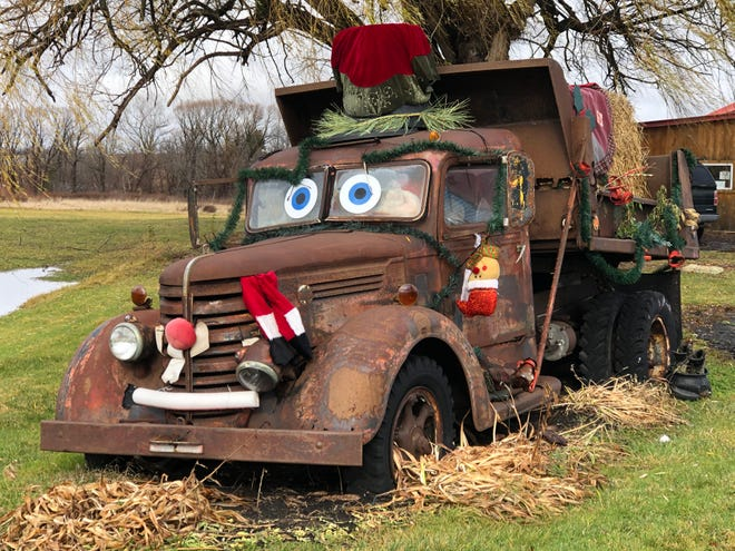 This old truck out front of the Outdoor Store is a familiar site for travelers on Routes 5 and 20 in East Bloomfield.