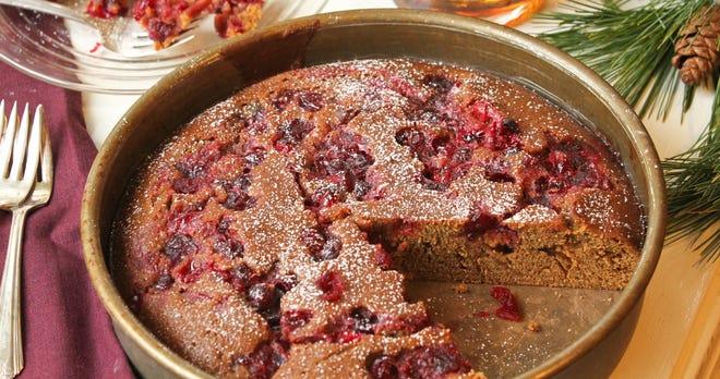 Maple Cranberry Gingerbread is a seasonal treat.