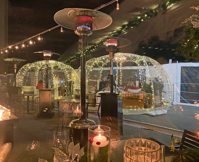 Coast Guard House in Narragansett is one of several restaurants in RI that has added outdoor igloos for dining.