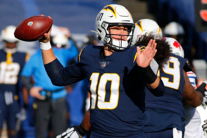 Los Angeles Chargers quarterback Justin Herbert is two touchdown passes away from becoming the fourth rookie with 25 touchdown passes.