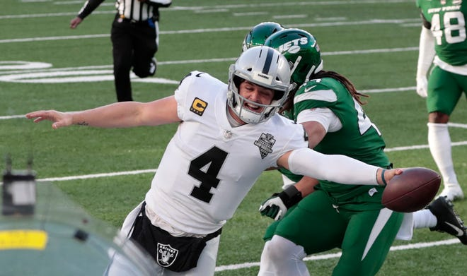 Quarterback Derek Carr and the Las Vegas Raiders will try and keep their playoff hopes alive when they host the Los Angeles Chargers on Thursday.