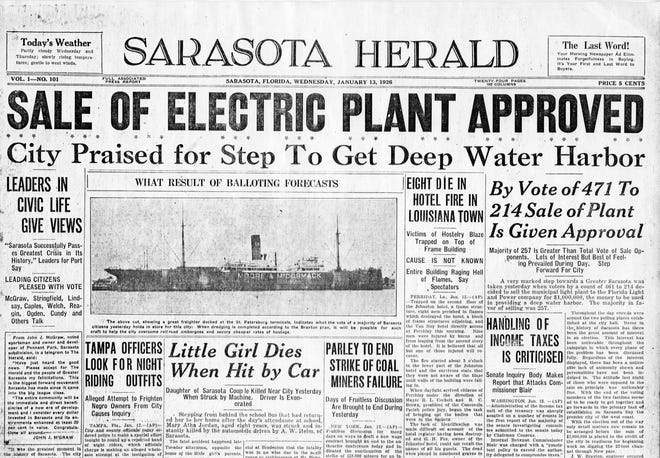 A Port of Sarasota was pursued with the funds from the sale of the municipal electric plant. (Courtesy photo / Jeff LaHurd)
