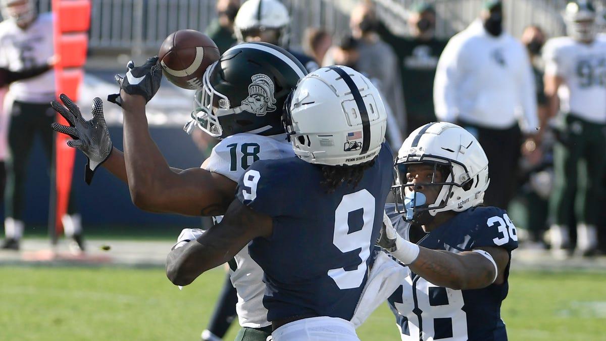 Michigan State receiver Tre'von Morgan enters transfer portal 1