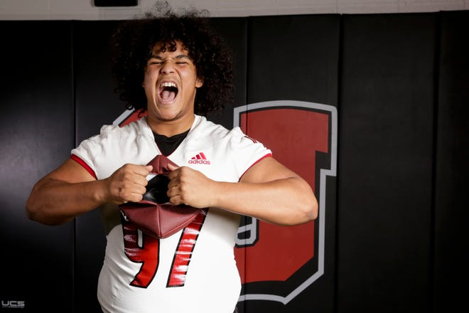 Lafayette Jeff's Peyton Price is the 2020 Journal & Courier Big School Defensive Football Player of the Year.