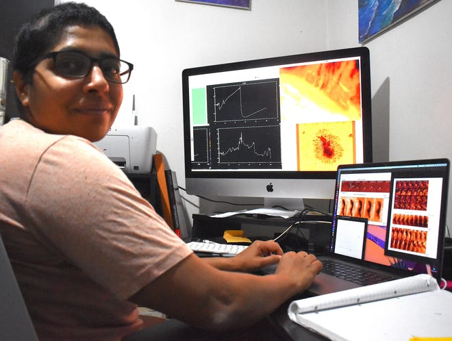 Juie Sheyte will join New Mexico State University's astronomy department in spring 2021 as an assistant professor to integrate research and education in solar magnetic fields. Her position is funded by a grant from the National Science Foundation through the Division of Atmospheric and Geospace Sciences.