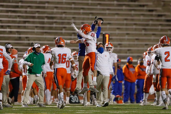 Eastlake takes on San Angelo Central in a Class 6A Division II bi-district playoff game in El Paso, Texas on Friday, Dec. 11, 2020.