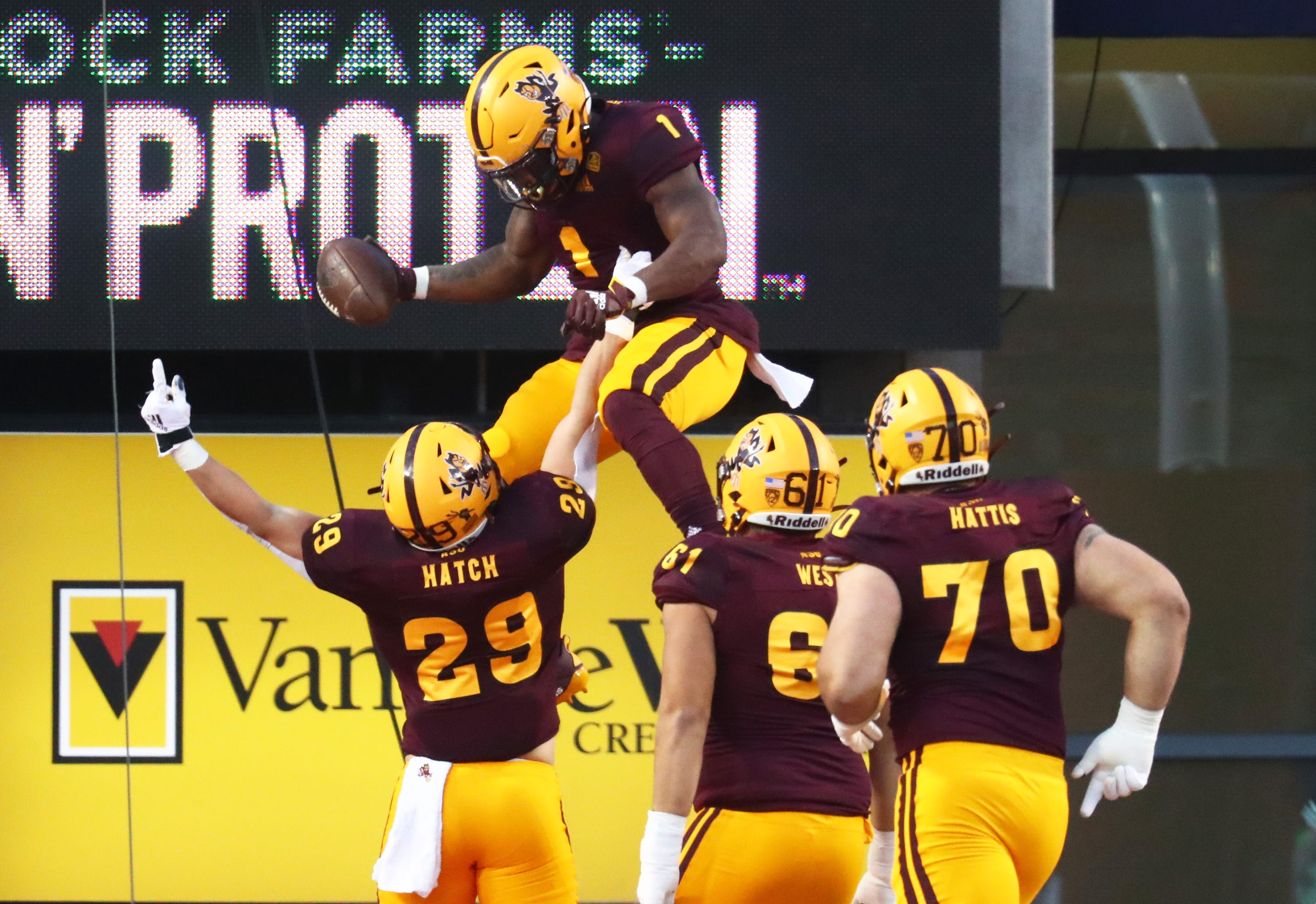 Arizona State crushes Arizona behind rivalry-record 70 points
