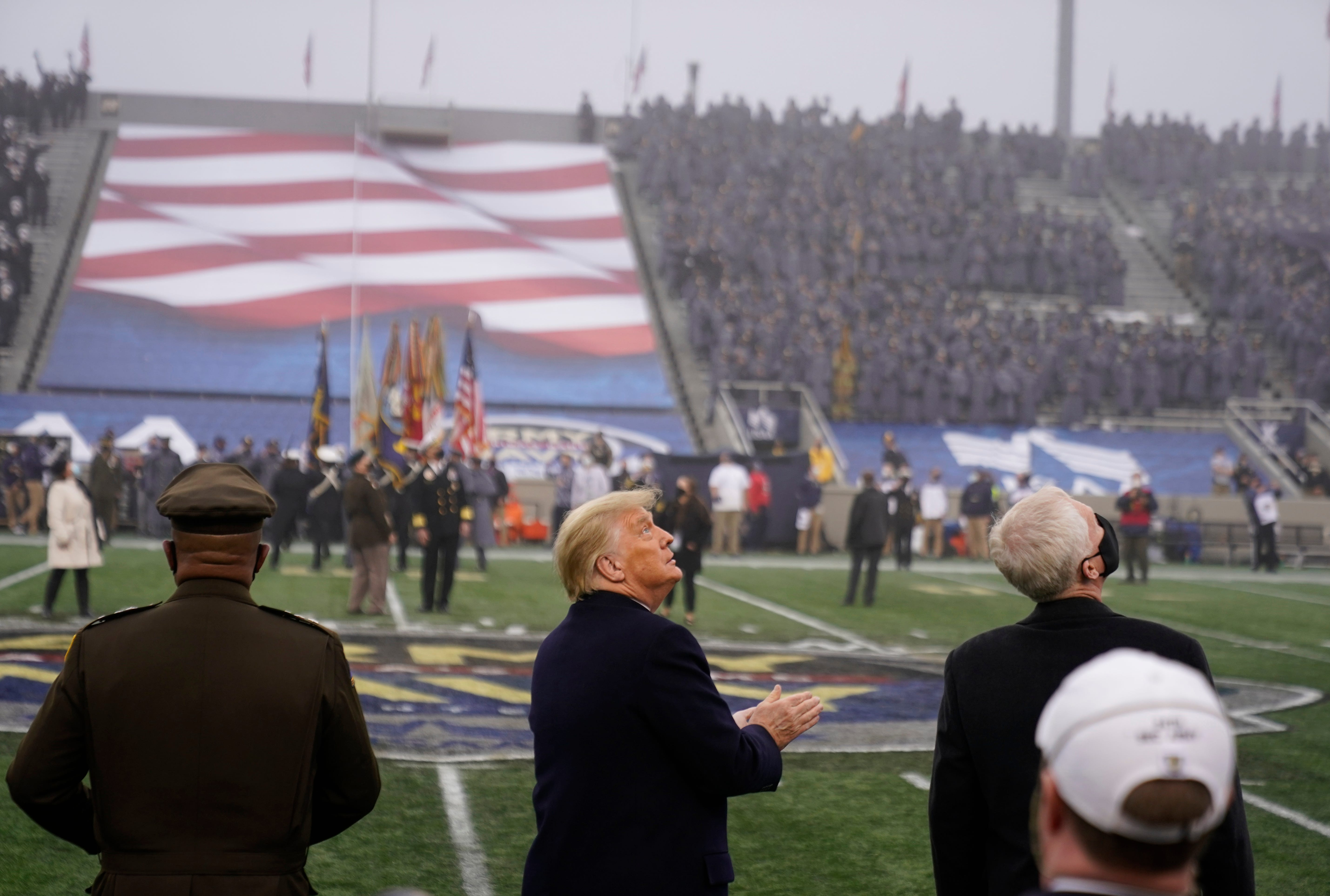 Donald Trump handles coin-toss duty at Army-Navy game at West Point