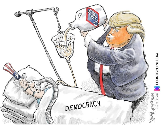 Editorial cartoon: Democracy