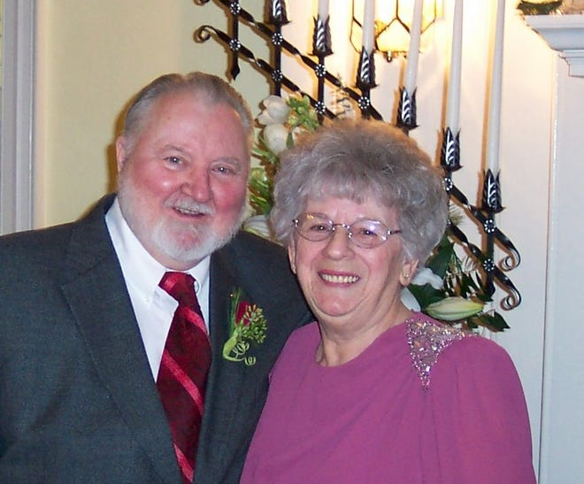 Richard and Mary Fry, pictured at the marriage of one of their grandchildren.