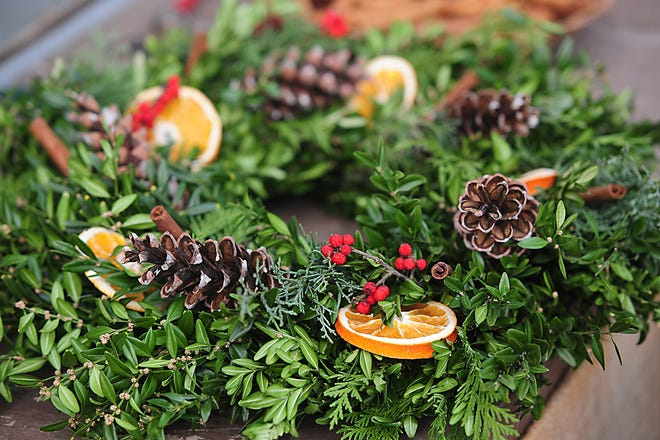 Beech Creek Botanical Gardens and Nature Preserve hosted it's annual Fresh Williamsburg Wreath Workshop Saturday December 12, 2020. Michael Skolosh, Special to The Alliance Review
