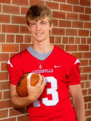 Logan Huffman was named second team all-Ohio punter in Ohio Division VI for his punting season with the football Redbirds.