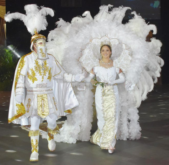 Mardi Gras balls and tableaux, like this one from the Krewe of Houmas this year, may not be held in 2021 due to the pandemic.