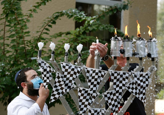 Chabad Lubavitch Chanukah celebration was held Sunday in Ormond Beach.