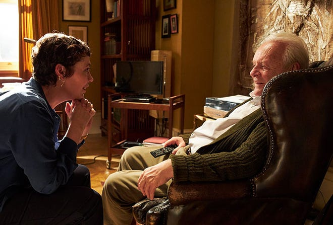 """Olivia Colman and Anthony Hopkins appear in a scene from """"The Father."""""""