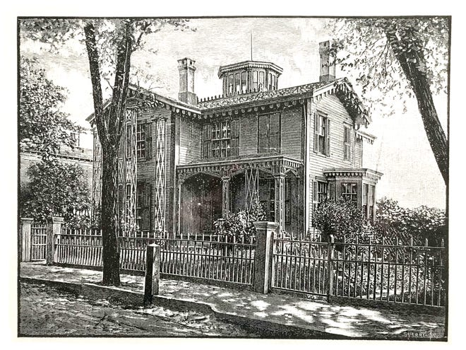 Rose Cottage as depicted in the 1891 East Greenwich Academy catalog.
