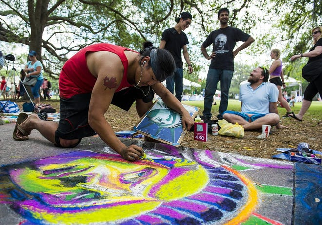 SCAD hosts the sidewalk arts festival every year in Forsyth Park.