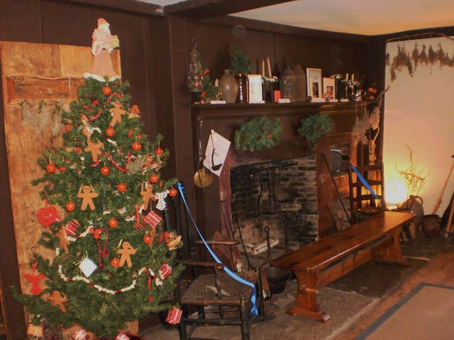 A Christmas display in 2019 in the Leffingwell House Museum.