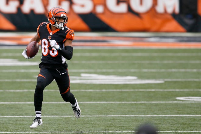 Tyler Boyd had  79 catches for  841 yards and four touchdowns this season. . Fifteen of his catches were on third down that resulted in first downs which was tied for ninth-best in the NFL.