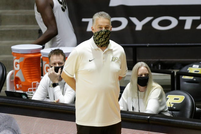 Purdue head coach Matt Painter during the first half of an NCAA men's basketball game, Saturday, Dec. 12, 2020 at Mackey Arena in West Lafayette.