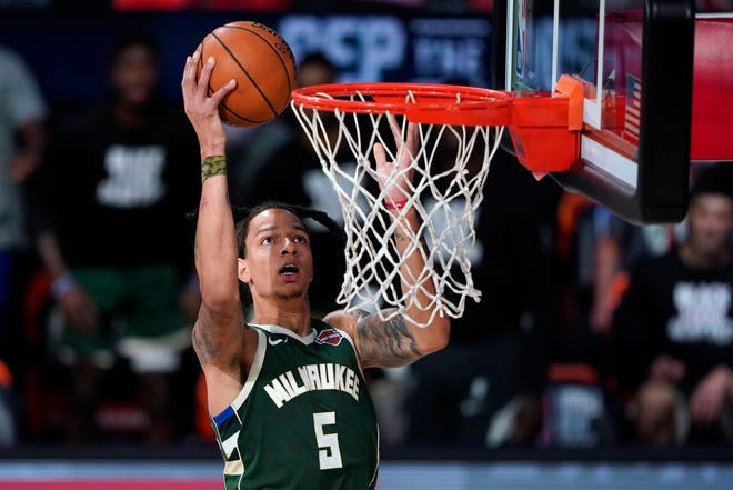 D.J. Wilson saw is playing time cut last year but has had a good training camp and was solid in the Bucks' preseason opener.