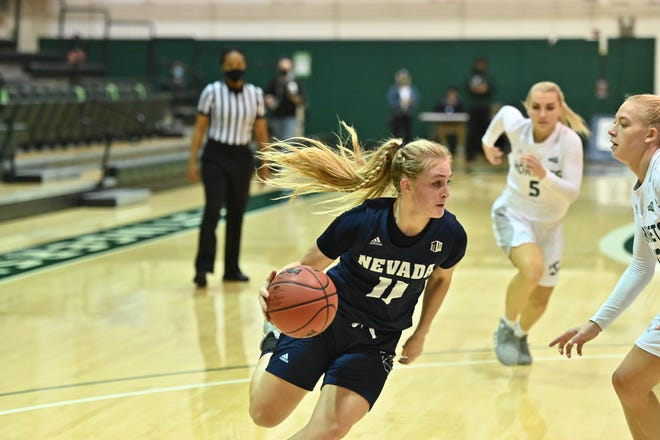 Nevada freshman Kenna Holt scored the first points of her Wolf Pack career on Sunday.