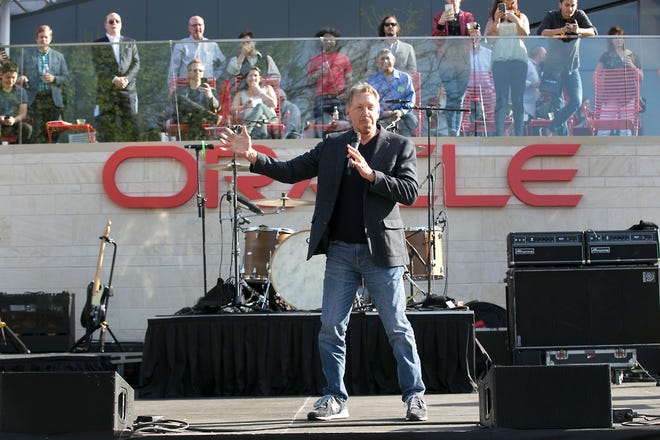 Oracle co-founder Larry Ellison speaks during the opening ceremony for the company's new Austin campus on March 22, 2018. Although Oracle is moving its corporate headquarters to Austin, Ellison said he is not heading to the Lone Star State, but is instead moving to Hawaii.