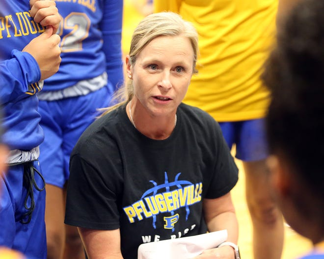Pflugerville Panthers girls basketball coach April Hundl and her team have entered a coronavirus quarantine and will resume play Dec. 22 against District 18-5A opponent Manor.