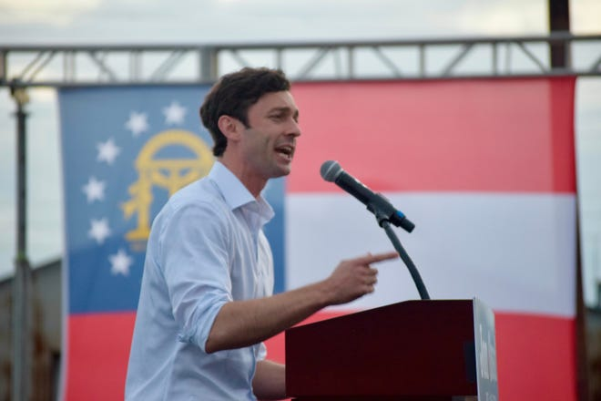 U.S. Senate Nominee Jon Ossoff rallied Augusta residents to support his plans for the state and to vote in the election during his rally in front of the James Brown Arena in Augusta Sunday, Dec. 13.