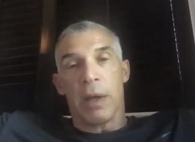 Phillies manager Joe Girardi answers a question during Monday's Zoom call.