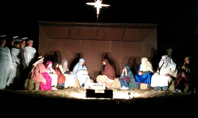 First Christian Church, 2411 Coggin in Brownwood, will perform a live Nativity Saturday, Dec. 19 and Sunday, Dec. 20. There will be two performances each night, beginning at 6:30 p.m. and 7:30 p.m. The public will watch from their vehicles. A past performance is pictured.