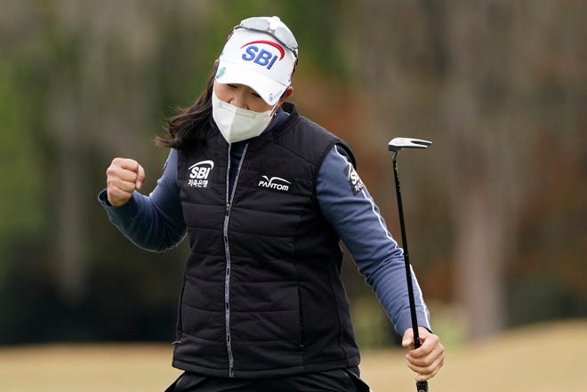 A Lim Kim birdied her final three holes and tied the record for the largest comeback in a U.S. Women's Open, rallying from five shots behind to win the biggest event in women's golf.