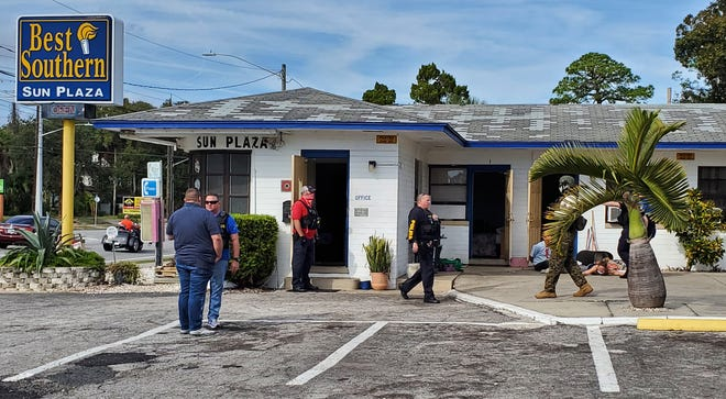 Daytona Beach police raid the Best Southern Sun Plaza motel.